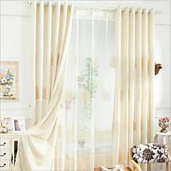 baratos Tratamentos para Janelas-Amiga-do-Ambiente Cortinas cortinas Dois Painéis 2*(W183cm×L213cm) / Bordado / Quarto