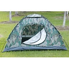 3-4 personer Telt Dobbelt camping Tent Ett Rom Hold Varm Varmeisolering Fukt-sikker Velventilert Vanntett Vindtett Ultraviolet