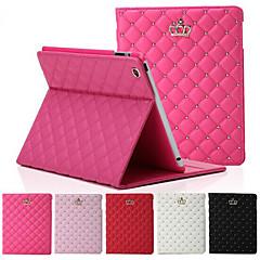 Original High Quality Crown Design Leather Flip Smart Case For Apple iPad 4/3/2 Cover Back Case Housing