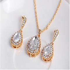 tanie Zestawy biżuterii-Perła Biżuteria Ustaw - Cyrkonia Impreza, Praca Zawierać Złoty / Biały Na / Kolczyki / Naszyjniki