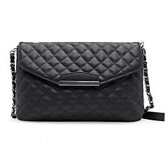 Women's Bags Other Leather Type Crossbody Bag Buttons White / Black