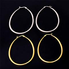 Aço Inoxidável Formato Circular Forma Geométrica Dourado Branco Jóias Para Festa Aniversário
