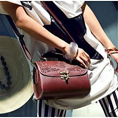 Χαμηλού Κόστους Bags on sale-Γυναικείο Τσάντα ώμου PU Όλες οι εποχές Causal Baguette Μαγνητικό Μαύρο Κρασί