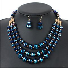 Conjunto de jóias Mulheres Aniversário / Casamento / Noivado / Presente / Festa / Diário / Ocasião Especial Conjuntos de Joalharia Strass