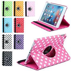 ylellisyyttä Tulosta Polka Dot 360 kierto PU nahka Apple iPad Mini 3/2/1 tabletti Smart Cover läppä tapauksissa jalustalla