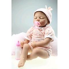 """preiswerte Puppen-22"""" Wiedergeborene Babypuppe Spielzeuge Handgemacht Kindersicherung lebensecht Non Toxic Neugeborenes Silikon Vinyl Stücke"""