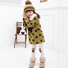 tanie Odzież dla dziewczynek-Brzdąc Dla dziewczynek Kropka / Kreskówki Codzienny Groszki Długi rękaw Jedwab wiskozowy Bluzka Pomarańczowy