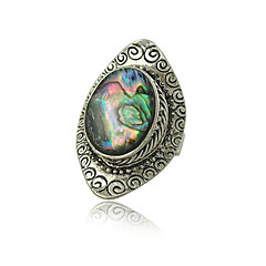 cheap Rings-Factory Original Design Gypsy Vintage Silver Plated Boho Shell Rings for Woman