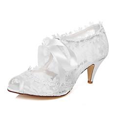 Dame - Pantofi de nunta - Decupați - Sandale - Nuntă / Rochie / Party & Seară - Alb