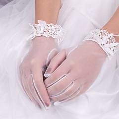 zijden elastische satijnen polslengte handschoen bruids handschoenen elegante stijl
