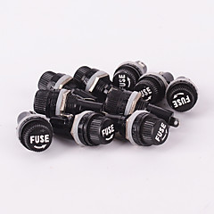 10pcs 5x20mm Electrical Panel Mounted Glass Fuse Holder For Radio Auto Stereo 250V 10A with 1A 2A 3A 5A  10A each 2pcs