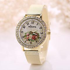 Mulheres Relógio Elegante Relógio de Moda Relógio de Pulso Simulado Diamante Relógio Quartzo Relógio Casual imitação de diamanteAço