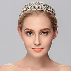 cheap Hair Jewelry-Rhinestone Tiaras 1 Wedding Special Occasion Casual Office & Career Outdoor Headpiece