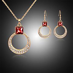 Χαμηλού Κόστους Σετ Κοσμημάτων-Γυναικεία Rose Gold Στρας Προσομειωμένο διαμάντι Με Επίστρωση Ροζ Χρυσού Κοσμήματα Σετ Cercei Κολιέ - Πολυτέλεια Χαριτωμένο Πάρτι Χρυσό