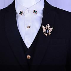 Pánské Dámské Barva ozdobného kamene Pokovená platina Pozlacené Slitina Módní Stříbrná Zlatá Šperky Svatební Párty Denní Ležérní