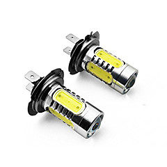 billige Frontlykter til bil-2pcs H8 1157 H11 H3 1156 H4 H7 Bil Elpærer 7.5W W COB SMD LED 700lm lm Baklys ForUniversell