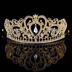 Fashion Wedding Party Women Bride Rhinestone Tiaras(Gold, Silver)
