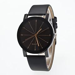 女性用 ファッションウォッチ ダミー ダイアモンド 腕時計 クォーツ 模造ダイヤモンド PU バンド ブラック
