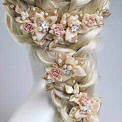 זול תכשיטים לשיער-פנינה רצועות 1 חתונה קזו'אל בָּחוּץ כיסוי ראש