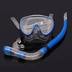 billiga Dykmasker, snorklar och simfötter-Dykmasker Två Fönster Unisex PVC Blå