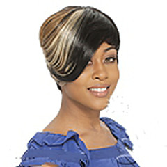 cheap Wigs & Hair Pieces-Synthetic Wig Straight Multi-color Women's Capless Carnival Wig Halloween Wig Black Wig Cosplay Wig Short Synthetic Hair