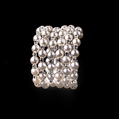 cheap Bracelets-Women's - Persona Beads Collection White Bracelet For Wedding Party Special Occasion