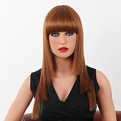 billige Lågløs-Human Hair Capless Parykker Menneskehår Kinky Glat Klassisk Høj kvalitet Lågløs Paryk Daglig