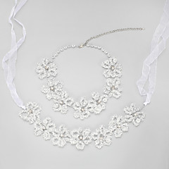 Jewelry Set Women's / Children's Wedding / Engagement Jewelry Sets Alloy Crystal Tiaras / Necklaces Clear
