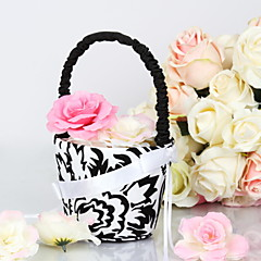 """olcso -gyönyörű esküvői virágkosár szatén 9 """"(23 cm) íj 1 esküvő"""