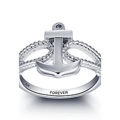 אופנה אישית הבטחה 925 כסף סטרלינג עוגן אצבע טבעת עבור נשים