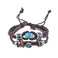Муж. Wrap Браслеты Кожаные браслеты Уникальный дизайн Мода Ручная работа бижутерия Кожа Бижутерия Бижутерия Назначение Для вечеринок