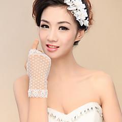 levne Party rukavice-Nylon K zápěstí Rukavice Pro nevěstu Party rukavičky