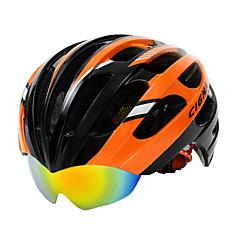 קסדה - יוניסקס - הר / כביש - רכיבה על אופניים / רכיבה על אופני הרים / רכיבה בכביש ( צהוב / ירוק / אדום / כחול / כתום , סיבי פחמן + EPS )