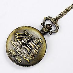cheap Men's Watches-Men's Quartz Pocket Watch Casual Watch Alloy Band Charm Silver Yellow