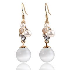 High-grade White Opal Elegant Pearl Rhinestones Hypoallergenic Earrings