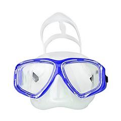 billiga Dykmasker, snorklar och simfötter-Snorkelmask / Simglasögon Vattentät Två Fönster - Simmning, Dykning Silikon, Fierglas - för Vuxna Gul / Blå / Rosa