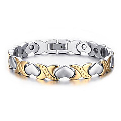 cheap -Men's Women's Chain Bracelet Heart Fashion Stainless Steel Heart Love Jewelry For Wedding Party Anniversary Birthday Gift Daily Sports