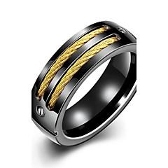 billige Motering-Herre Band Ring / Statement Ring / Ring - Sølvplett Personalisert, dusk, Bohemsk 7 / 8 / 9 Svart Til Bryllup / Fest / Daglig