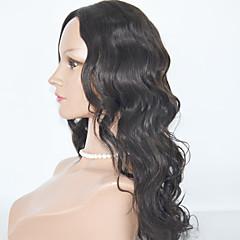 billiga Peruker och hårförlängning-Äkta hår Hel-spets Peruk Kroppsvågor 130% Densitet Naturlig hårlinje / Afro-amerikansk peruk / 100 % handbundet Dam Mellan / Lång