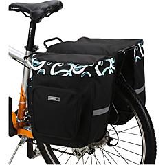 cheap Bike Bags-Bike Bag 30L Panniers & Rack Trunk Waterproof Wearable Shockproof Bicycle Bag 600D Polyester Mesh Cycle Bag