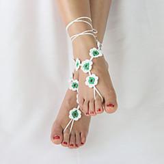 billige Kropssmykker-Bedårende Ankel - Dame Gul / Rød / Grønn Unikt design / Enkel Stil / Justerbare Ankel Til Bryllup / Fest / Avslappet / Dame