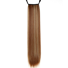 cheap Wigs & Hair Pieces-Ponytails Straight Classic Synthetic Hair 24 inch Long Hair Extension Daily