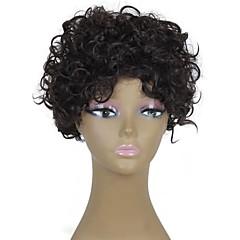 billiga Peruker och hårförlängning-Syntetiska peruker Lockigt / Afro Syntetiskt hår Peruk Dam Utan lock