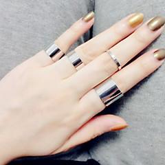 Χαμηλού Κόστους Ασημένιο Δαχτυλίδι-Γυναικεία Band Ring / Midi Ring - Ασημί Love Βίντατζ, Μοντέρνα Ένα Μέγεθος Ασημί / Χρυσαφί Για Γάμου / Πάρτι / Δώρο