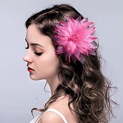 Fabric Flowers Hair Clip Headpiece Elegant Classical Feminine Style
