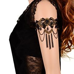 billige Kropssmykker-Kroppskjede / Magekjede / Armbånd - Blonde Blomst Gotisk Dame Svart Kroppsmykker Til Daglig / Avslappet