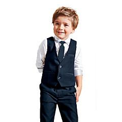 billige Tøjsæt til drenge-Drenge Tøjsæt Ensfarvet Alle årstider Langærmet Blå
