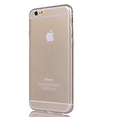 billige Telefoner og nettbrett-Etui Til Apple iPhone 7 / iPhone 7 Plus / iPhone 6 Plus Gjennomsiktig Bakdeksel Ensfarget Myk TPU til iPhone 7 Plus / iPhone 7 / iPhone 6s Plus