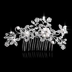 真珠の結晶のラインストーン合金の髪の櫛ヘッドピースのエレガントなスタイル