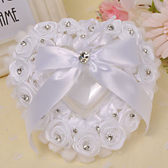 The Rose Heart Style Rhinestone Ring Pillow Wedding Ceremony Beautiful